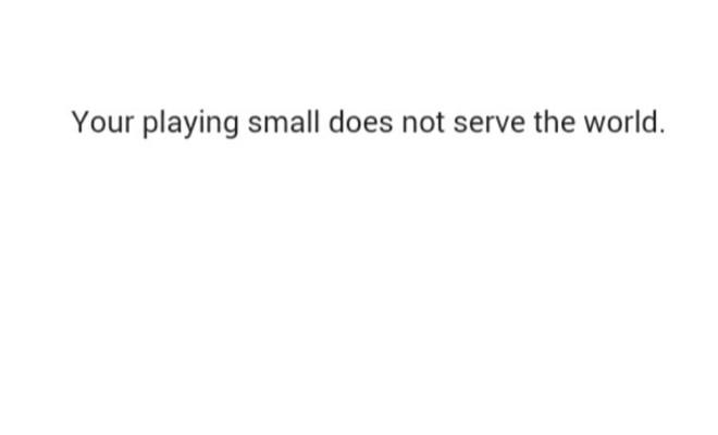 No More Playing Small
